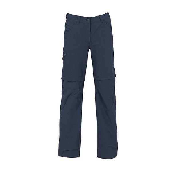 Dámské tmavě modré kalhoty se zipy na nohavicích Bergson