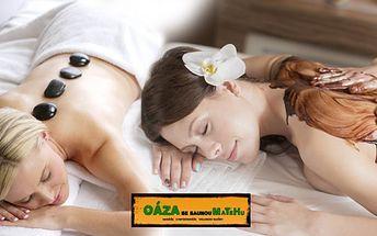 90minutová masáž dle výběru! Aroma masáž či masáž lávovými kameny nebo čokoládou! Zrelaxujte!