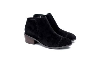 Dámské černé semišové kotníčkové boty Shoe the Bear