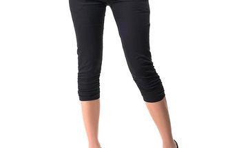 Dámské černé capri kalhoty Sixie