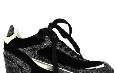 Dámské černé třpytivé tenisky Shoes and the City
