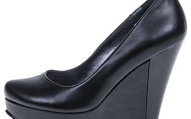 Dámské černé boty na platformě 1to3