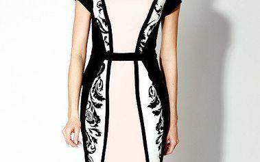Dámské černo-růžové šaty Rylko