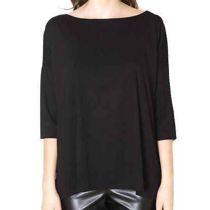 Dámské volné černé tričko Santa Barbara