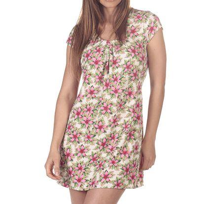 Dámské krátké šaty s růžovými květy Azura