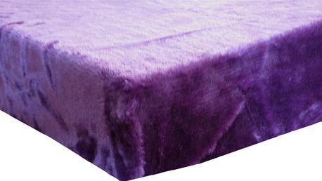 Prostěradlo z mikrovlákna 180x200cm fialová