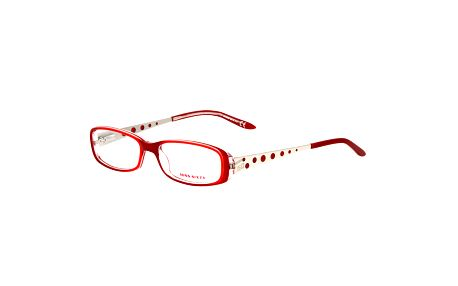 Dámské červené obroučky s puntíkatými stranicemi Miss Sixty