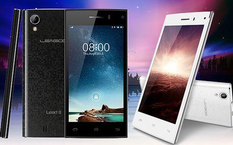 "Čtyřjádrový 4,5"" Smartphone LEAGOO LEAD 3, IPS Android 4.4., GPS, DUAL SIM i kamera, Bluetooth, 3G!"