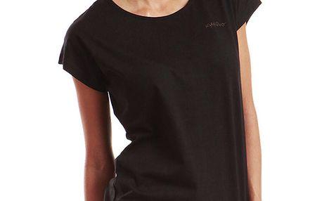 Dámské černé tričko s krátkým rukávem Alpine Pro