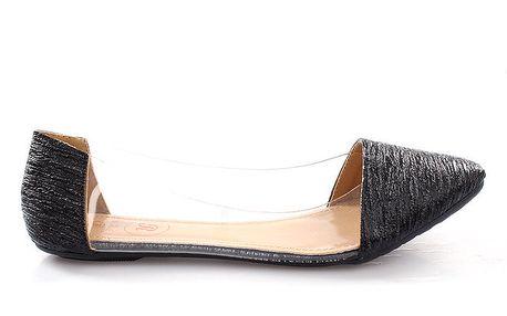 Dámské černé transparentní boty se vzorem So Real
