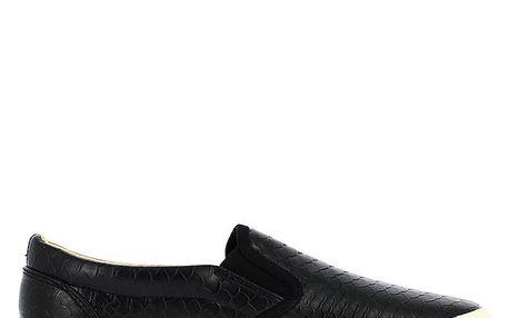 Dámské černé tenisky s motivem šupin Shoes and the City