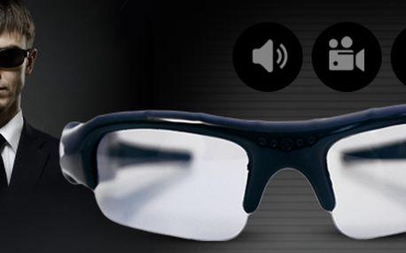 DVR sluneční brýle: s mikro kamerou a slotem na SD karty. Vč. poštovného!