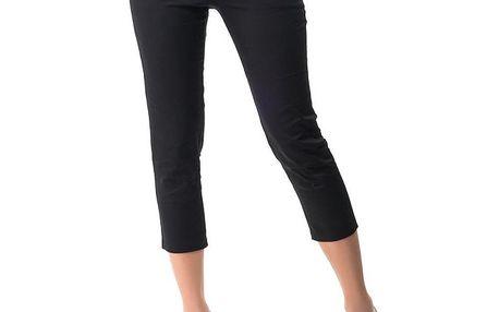 Dámské černé capri kalhoty s 5 kapsami Sixie