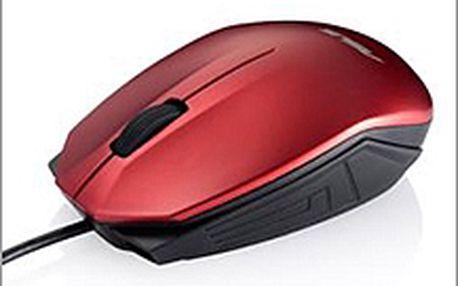 Červená myš ASUS