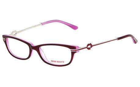 Dámské růžové obroučky s pusinkami na stranicích Miss Sixty