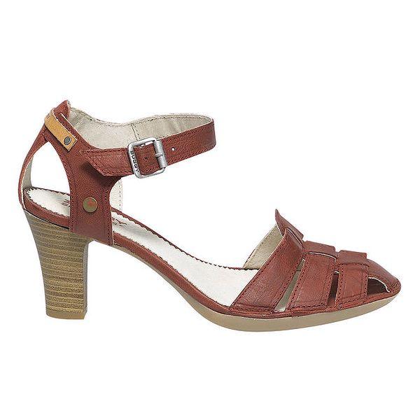 Dámské červené sandály na podpatku Buggy