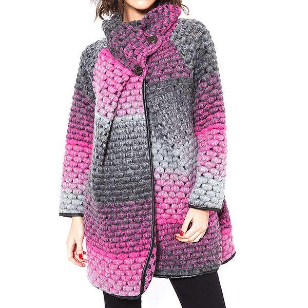 Dámský růžovo-šedý kabátek Agatha