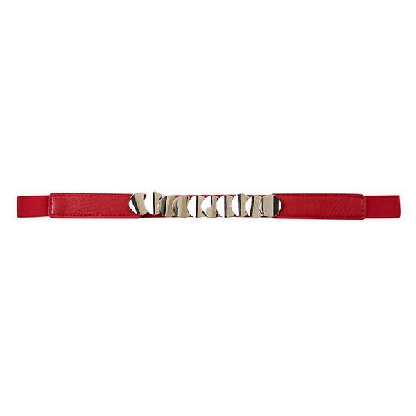 Dámský červený pásek s plíšky Compania Fantastica