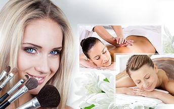 Balíček pro Vaši krásu! Bahenní zábal, kosmetické ošetření pleti, líčení, sleva na vybranou masáž, občerstvení!