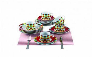 Barevná jídelní sada talířů 30 ks RENBERG