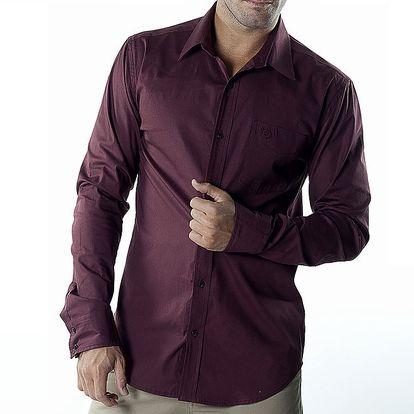 Pánská vínová casual košile Bendorff