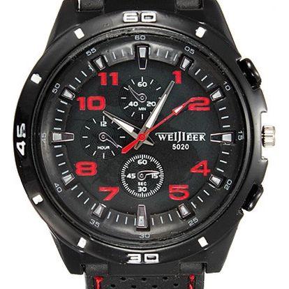 Pánské army hodinky se silikonovým páskem - 4 barvy