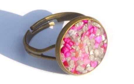 Stříbrno - vínový prsten