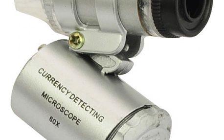 Kapesní mikroskop s LED osvětlením