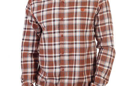 Pánská oranžově károvaná košile Bendorff