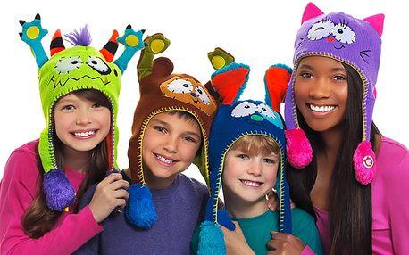 Veselá barevná dětská čepice Flipeez
