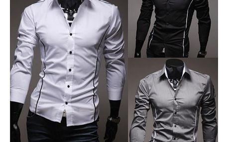 Pánská slim fit košile - 3 barvy
