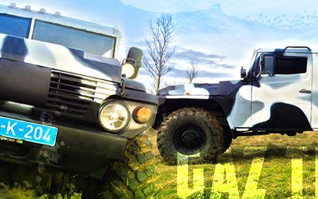 30 min. řízení GAZ Tigr: projeďte se v ruském armádním speciálu. Jediný v ČR!