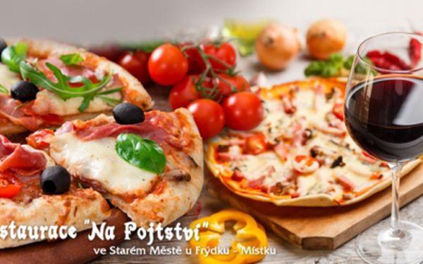 2 pizzy o průměru 33 cm libovolného výběru! Nabídka až 30 různých druhů křupavoučkých voňavých pizz!