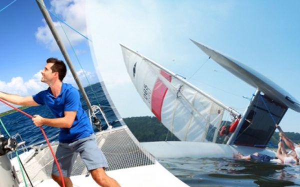 1DENNÍ kurz plavby na KATAMARÁNU HOBIE CAT 18 pro DVA kolem přehrady ORLÍK včetně instruktora!