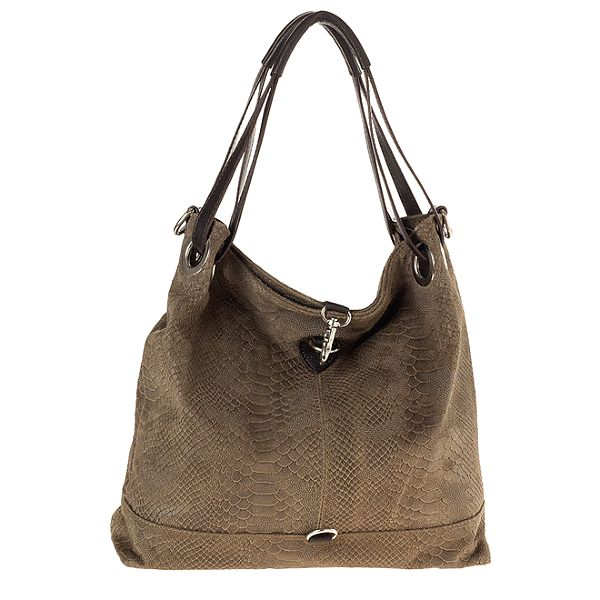Dámská kožená vzorovaná kabelka s karabinou Tina Panicucci
