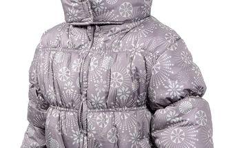 Krásná dívčí zimní bunda s podšívkou
