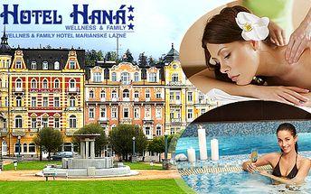 Mariánské Lázně pro dva s polopenzí, bazénem a balíčkem procedur v Hotelu Haná***