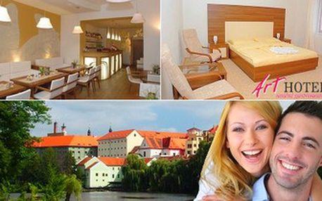 Královský relax v královském městě Písek pro 2 osoby. 3denní POBYT, výborné jídlo v Hotelu Art***.