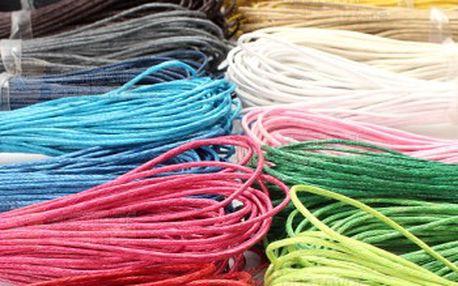 Návlekové šňůrky na krk - povoskovaná bavlna, 21 barev a poštovné ZDARMA! - 9999903902