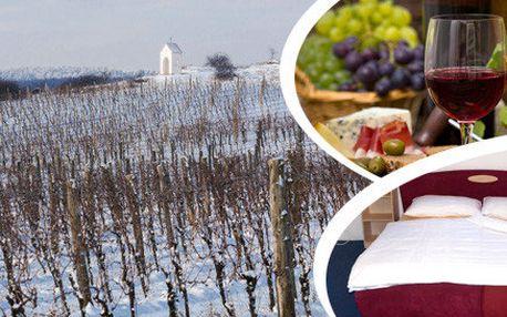 3denní pobyt pro 2 v Bořeticích s neomezenou konzumací vína