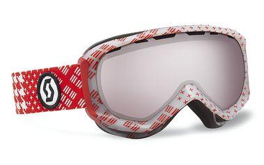 Pánské lyžařské brýle Reply patternm red/silver chrome