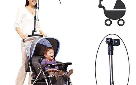 Nastavitelný držák na deštník na kočárek