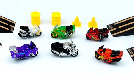Set 6 motorek Spin Go a doplňků
