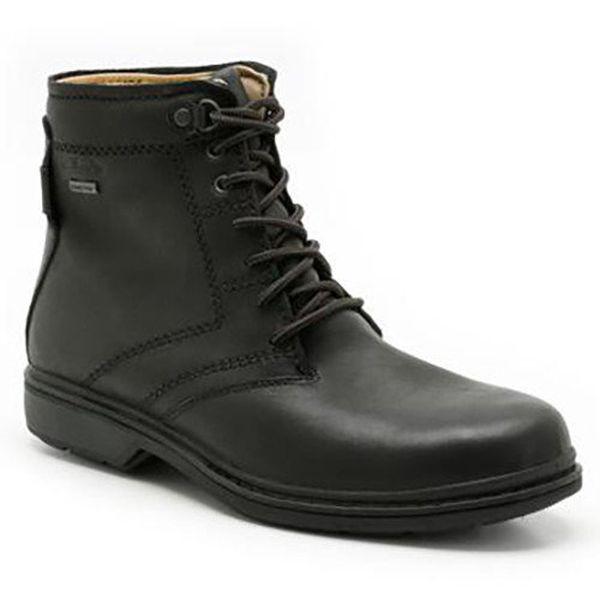 Pánské černé kotníkové boty s gore-texem Clarks