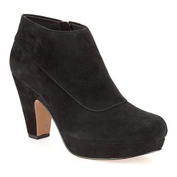 Dámské černé semišové kotníčkové boty Clarks