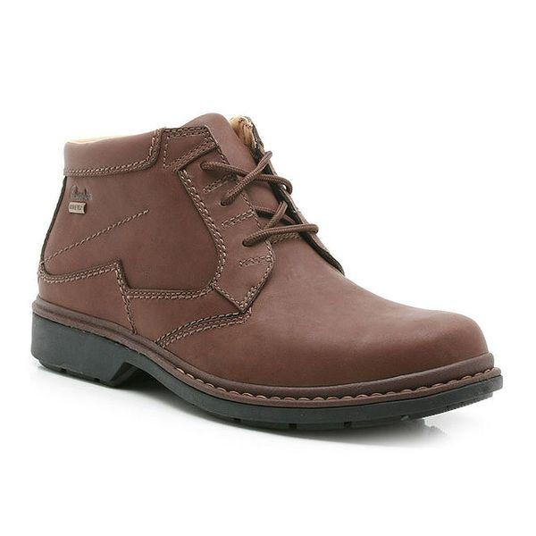 Pánské hnědé kotníkové kožené boty Clarks