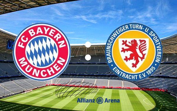 Zájezd na utkání BAYERN MNICHOV vs. EINTRACHT BRAUNSCHWEIG v supermoderní Allianz aréně