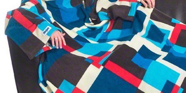 Jedinečná fleecová deka s rukávy Vám zajistí teplo a pohodlí!