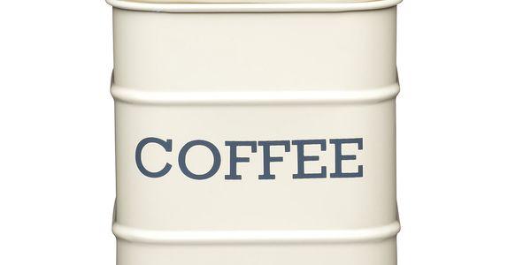 Plechová dóza Coffee, krémová