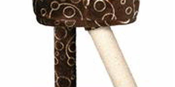 Trixie Škrábadlo s pelíškem CABRA 50cm - hnědé s motivem